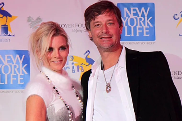 Jamie Moyer and his wife, Karen, at the Moyer Foundation's event that raised $73,000 for Camp Erin. (Photo / Mike Levin)