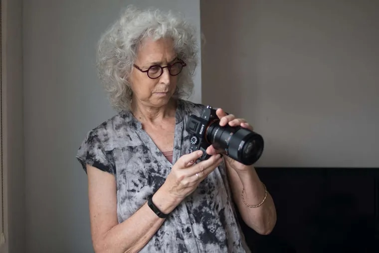 Wednesday, Sept. 27, 2017 Photographer Nancy Hellebrand works with a subject in her apartment in Cherry Hill, N.J  For her recent project, Hellebrand is creating nude photos of women's bodies, often focusing just on parts and smaller details.