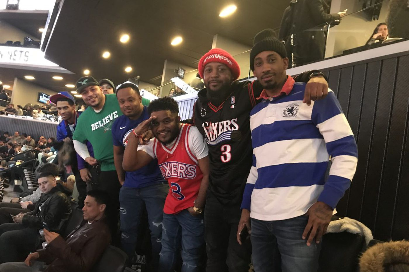Sixers fans infiltrate Nets game and start Eagles chants