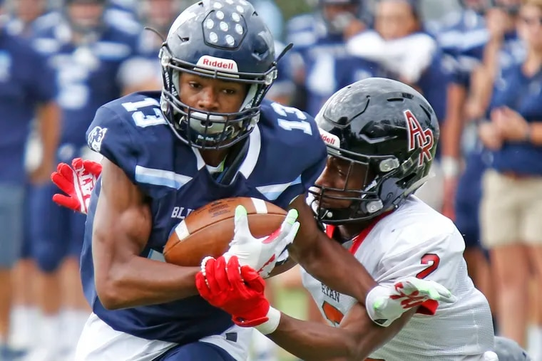Springside Chestnut Hill 's Ke'Shawn Williams, shown here in a 2018 game vs. Archbishop Ryan, will sign a National Letter of Intent with Wake Forest.
