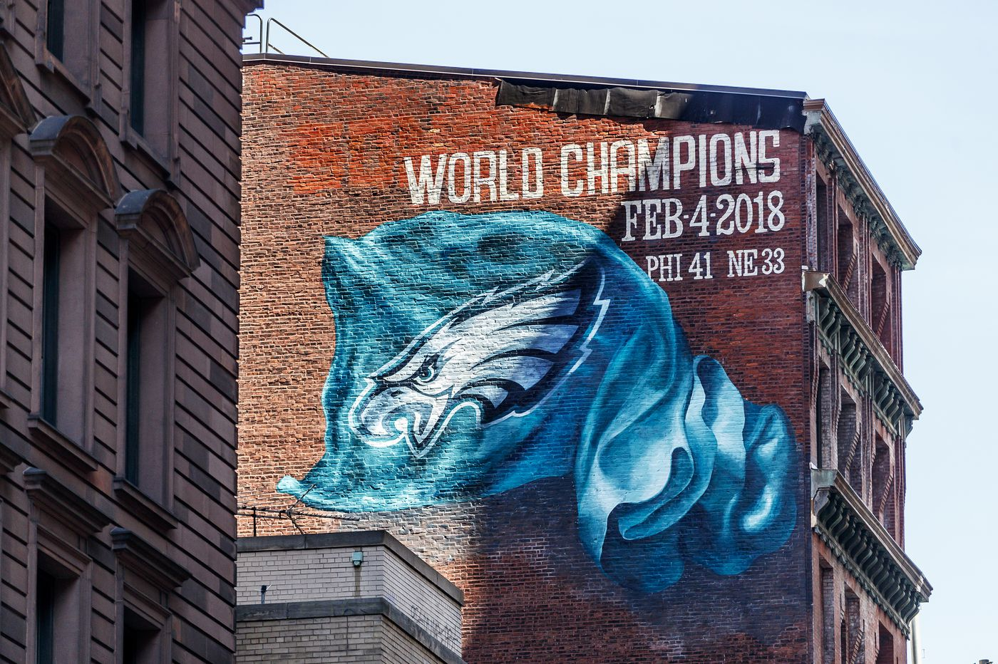 A World Champions Eagles mural is finishing up in Center City. Are others to come?