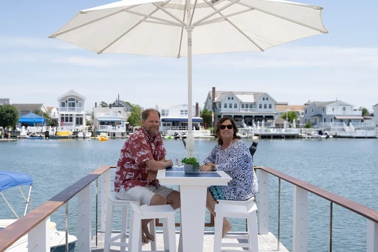 """John Dent and Pam McBride built a 1,650-square-foot Shore getaway in a town with many homes that are exponentially larger. """"The tiny details make this space feel broader than it really is,"""" the construction manager said."""