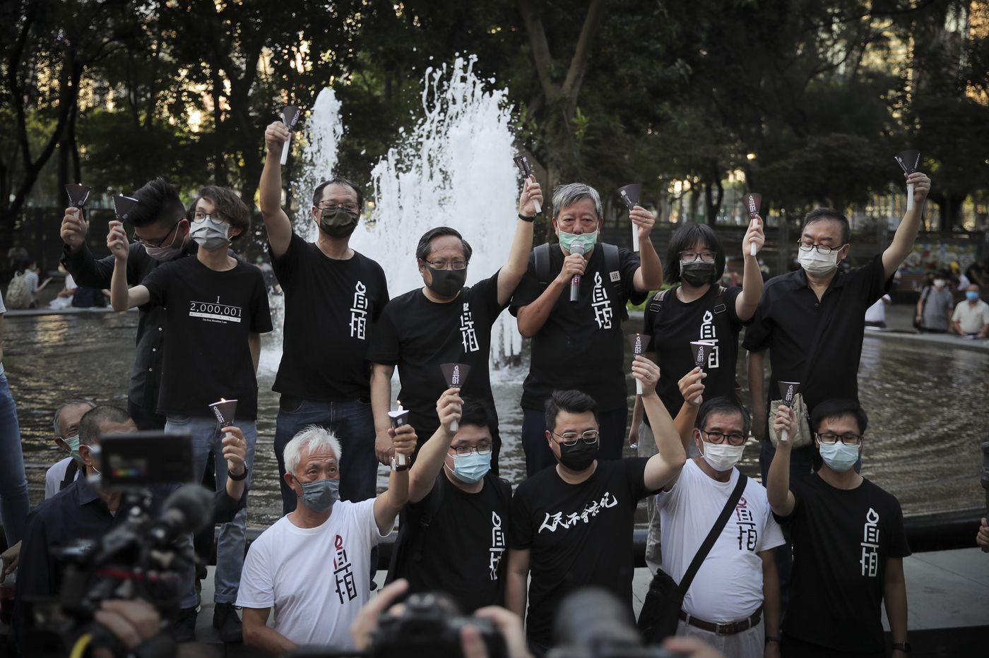 Hong Kong marks Tiananmen anniversary, defying a police ban