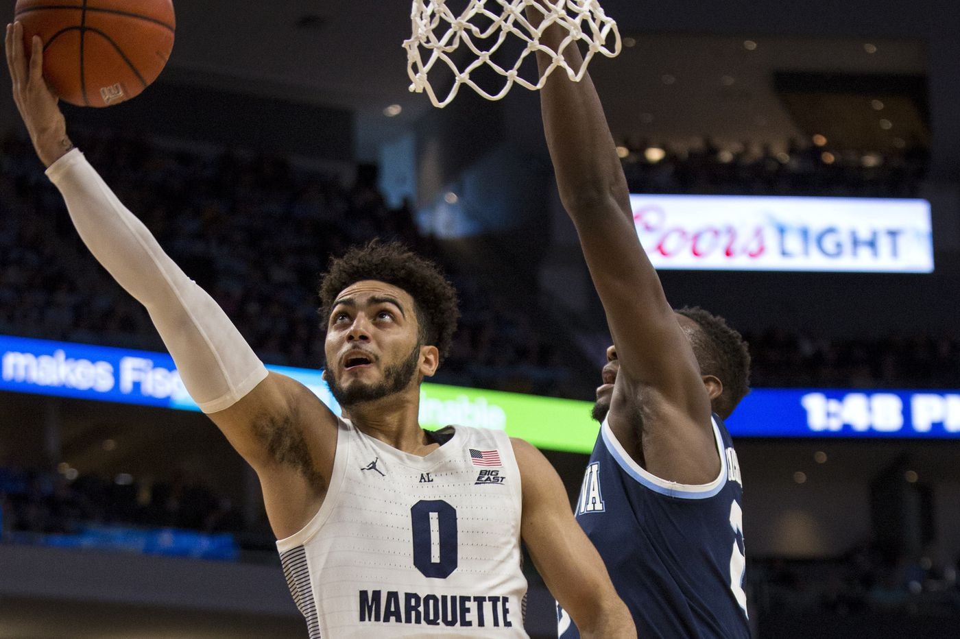 Villanova rallies from 15-point deficit, but final shot falls short in 66-65 loss to Marquette
