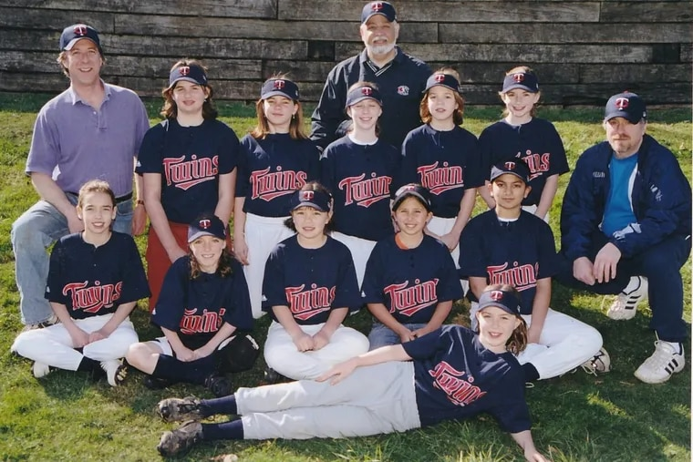 The 2004-05 Twins, coached by (from left) Fred Kauffman, Bob Miccolis, and Rick Eckstein.