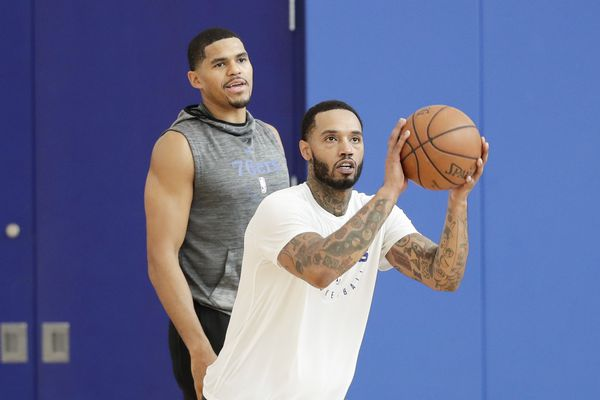 The sharpshooting of Sixers Mike Scott earned him some extra cash from teammate Tobias Harris