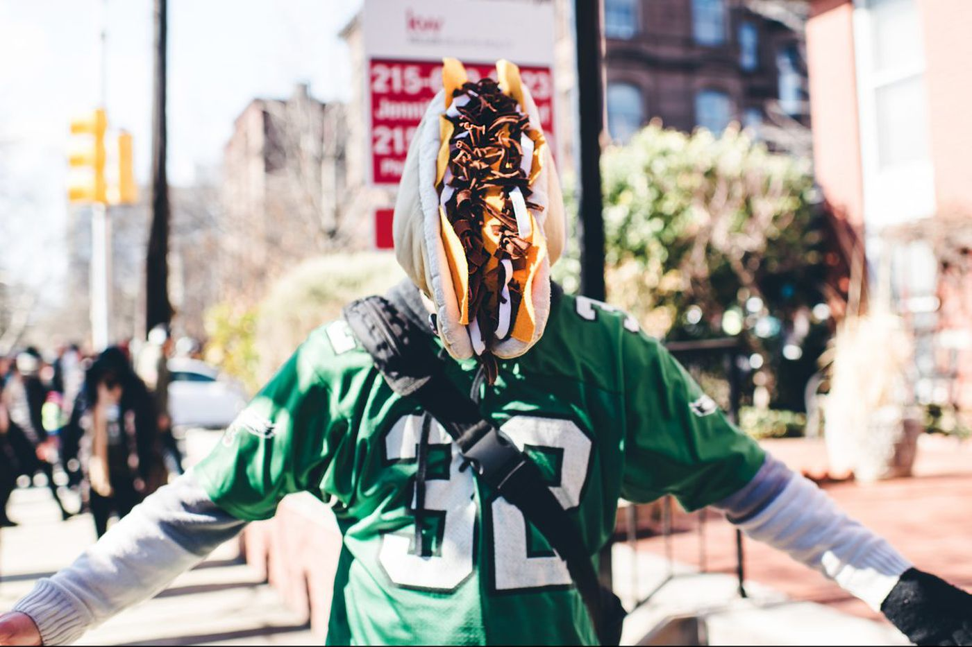 Most spirited Eagles fans at the victory parade