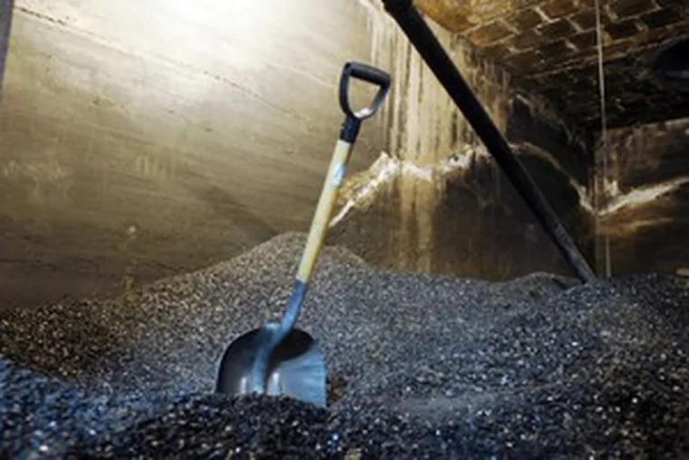 Several tons of anthracite , referred to as black diamonds by miners for its value as a home heating fuel, fills a basement space in the Schuylkill County courthouse and prison facilities.