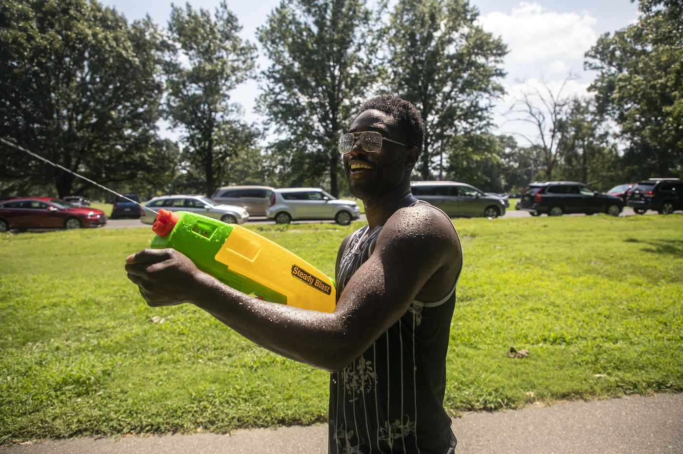 He's fighting urban heat — and violence — with Super Soakers
