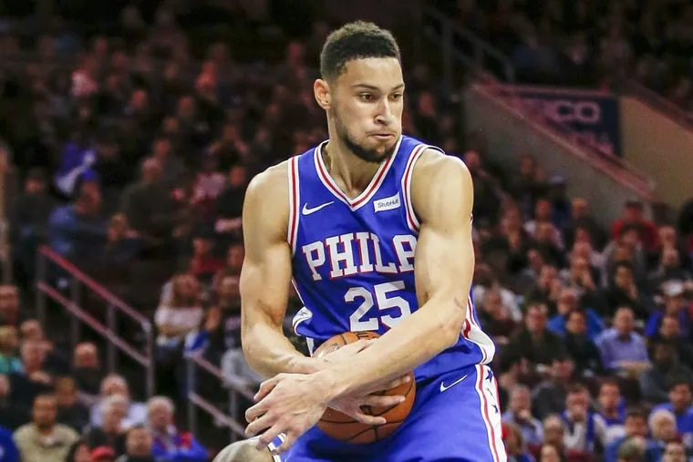 Sixers guard Ben Simmons will be reevaluated closer to game time Monday.