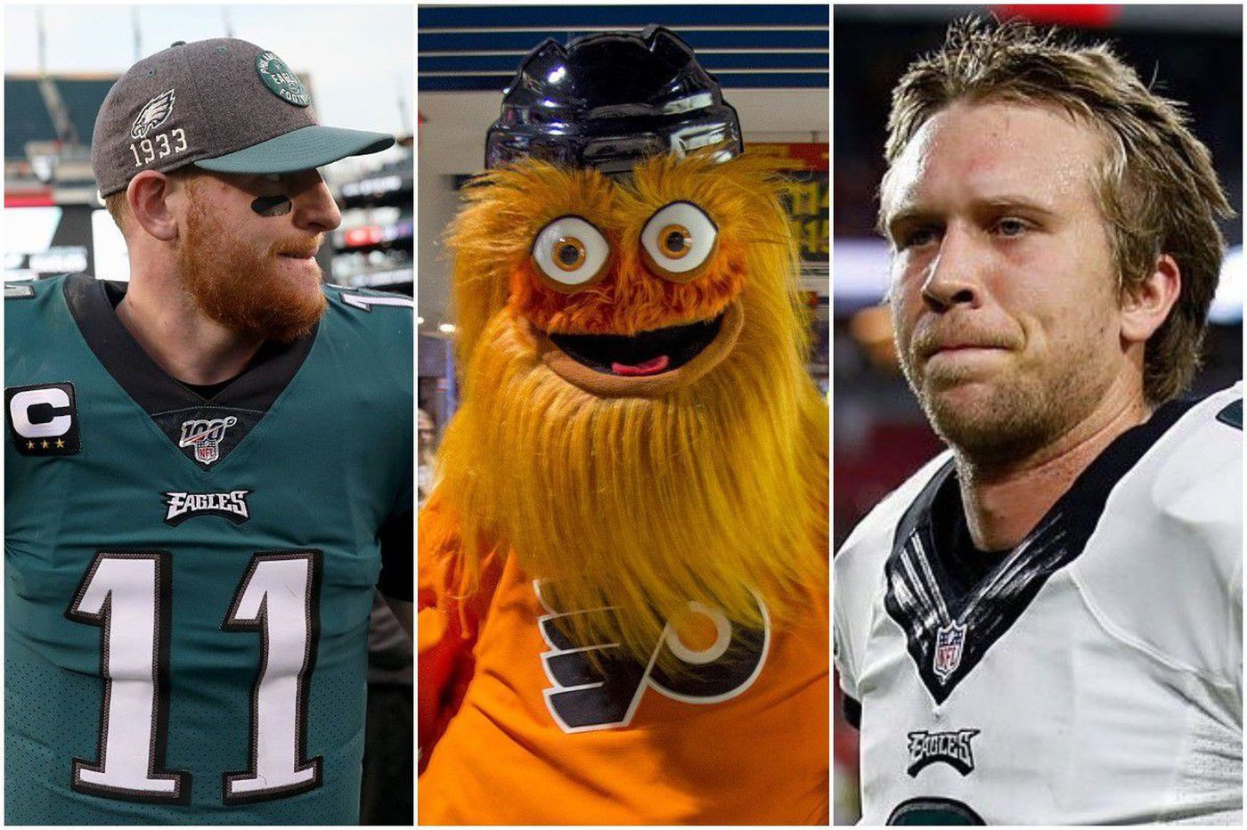 Nick Foles beat Carson Wentz in a Philadelphia election landslide. But Gritty beat them both.