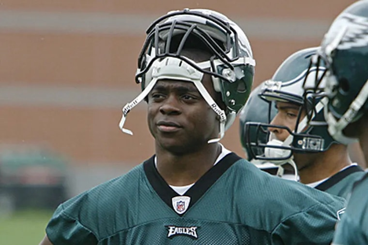 Jeremy Maclin at Eagles mini-camp in May. ( Michael S. Wirtz / Staff Photographer ).