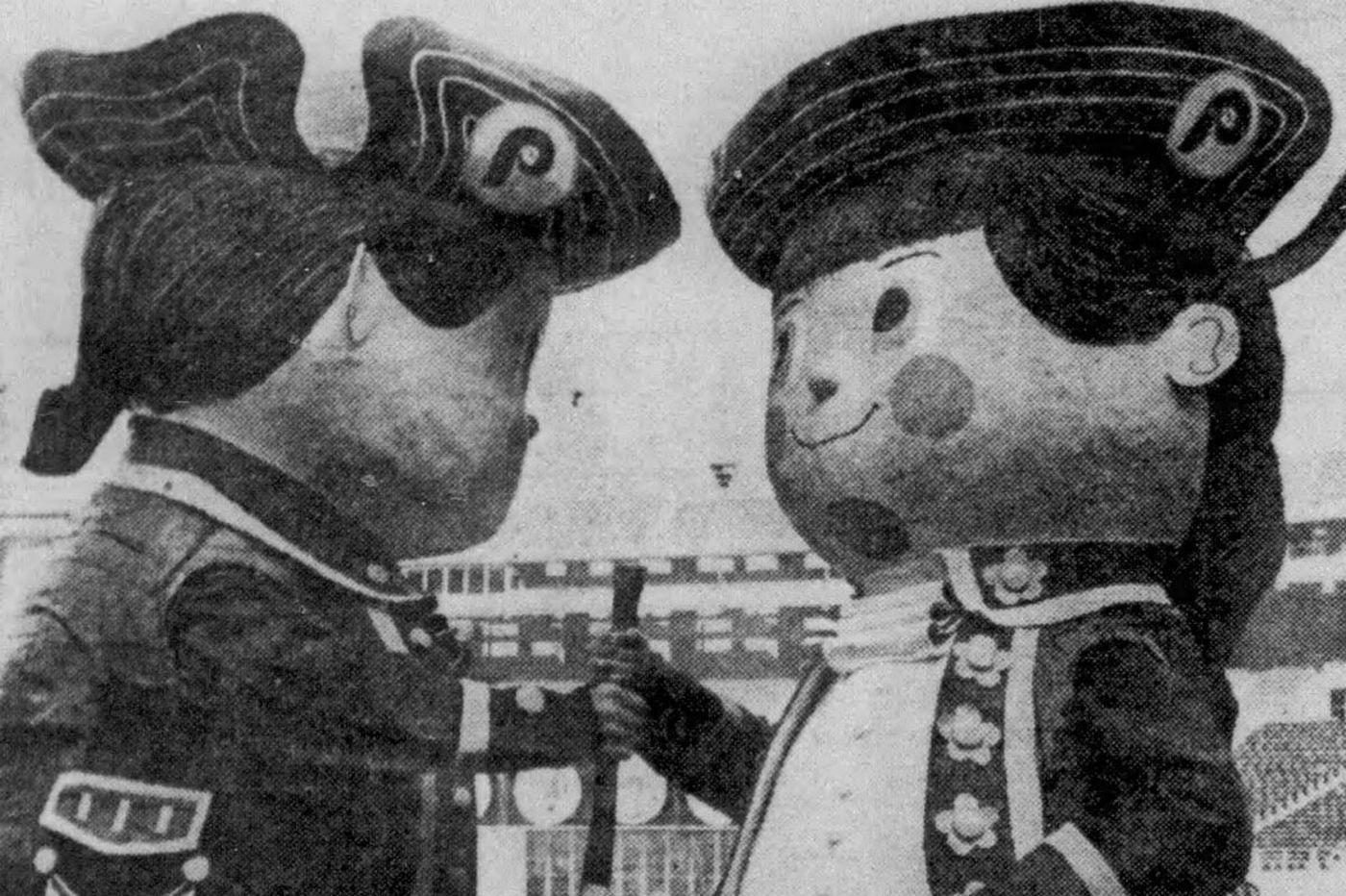 Before the Phanatic, the Phillies had animatronic twins