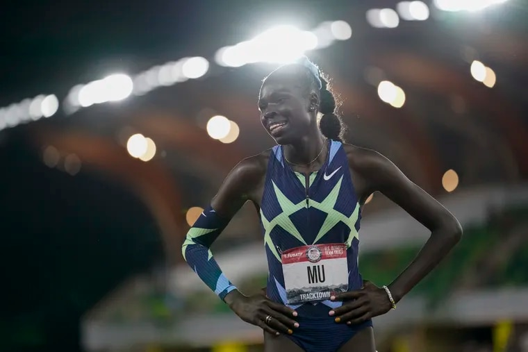 Athing Mu won the final in the women's 800-meter run at the U.S. Olympic track and field trials last month.