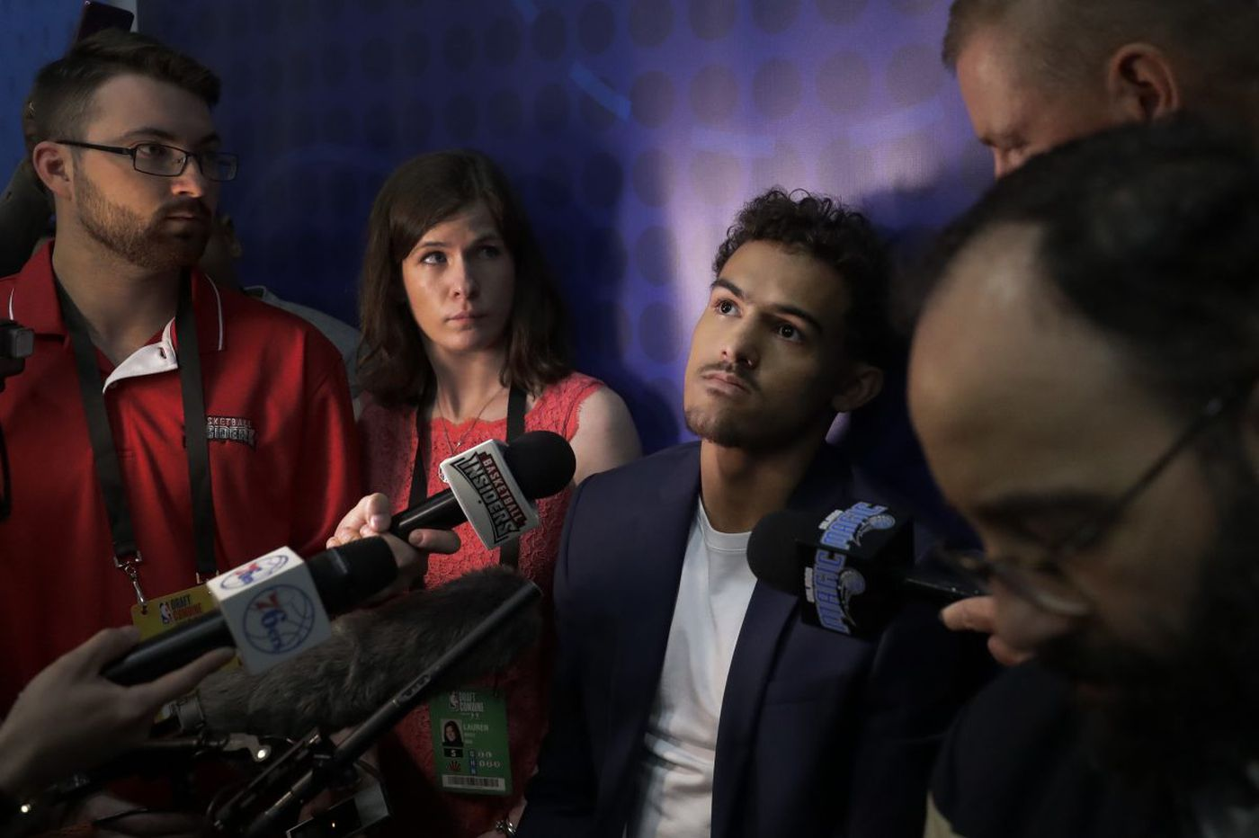 Trae Young on Sixers meeting at NBA draft combine: 'I know they are interested in me'