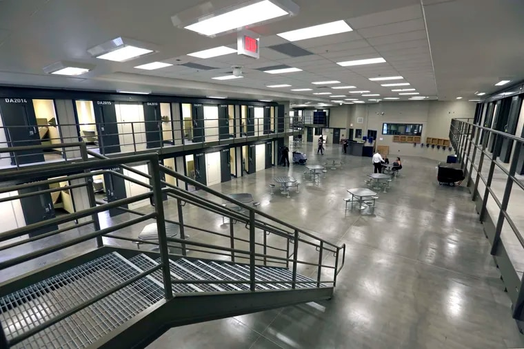 FILE – This June 1, 2018, file photo, shows a housing unit in the west section of the State Correctional Institution at Phoenix in Collegeville, Pa. Pennsylvania Gov. The Pennsylvania's state prisons are seeing an increase in coronavirus cases. Last week, Philly jails went into lockdown after 150 people tested positive in a week.