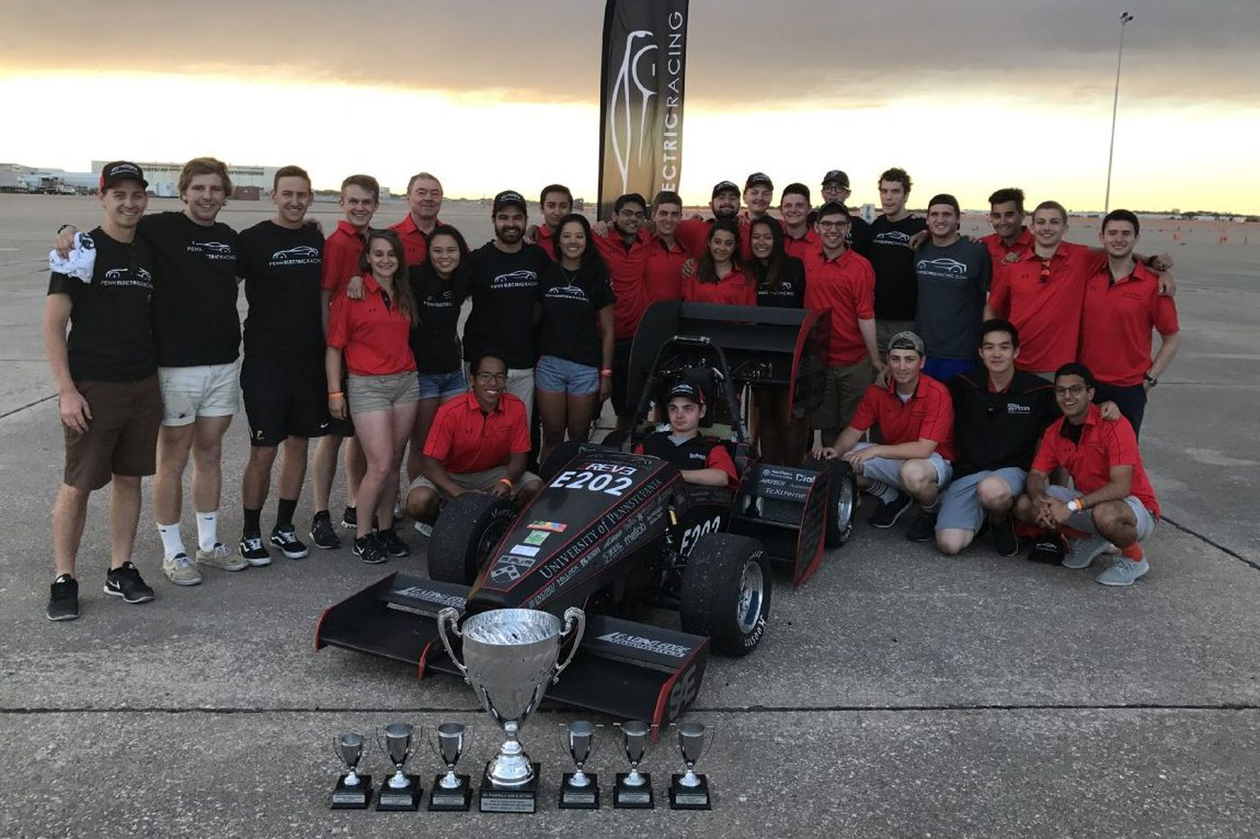 Penn students take gold with custom electric race car