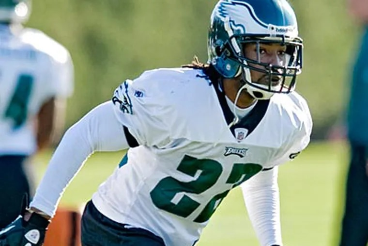Eagles cornerback Asante Samuel went through full workouts on Wednesday, but was limited on Thursday. (Clem Murray/Staff file photo)