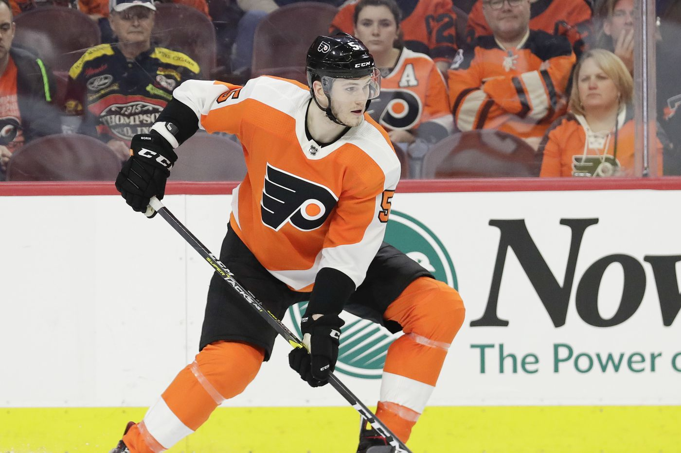 Flyers defenseman Samuel Morin hungry to show he belongs in the NHL