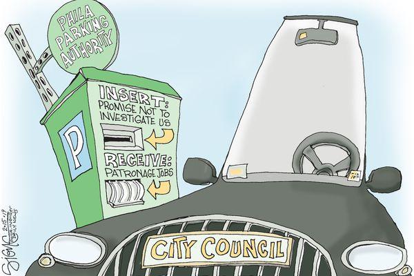 Political Cartoon: Parking Philadelphia City Council