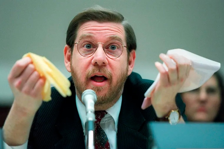 This Nov. 15, 1995, photo shows then-Food and Drug Administration chief David Kessler testifying on Capitol Hill.