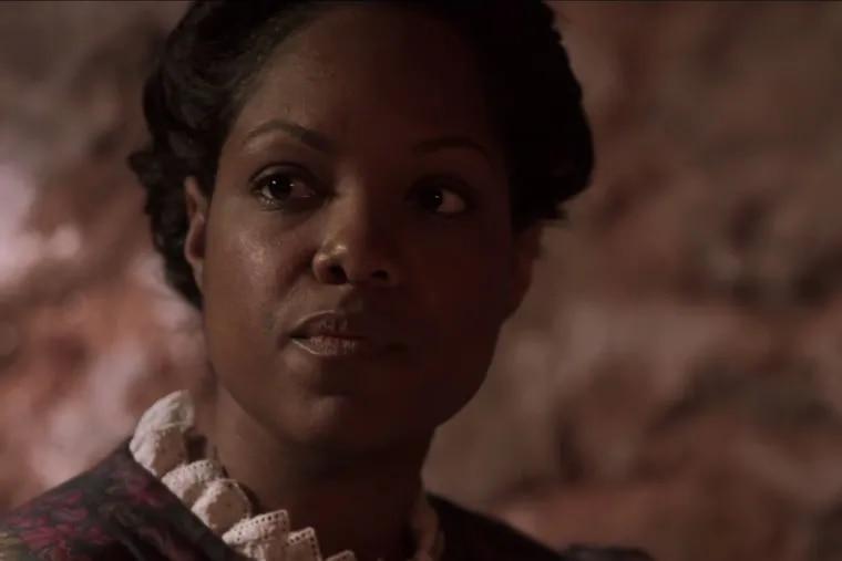 "Belinda Davis as Harriet Forten Purvis in the film ""Sisters in Freedom."""