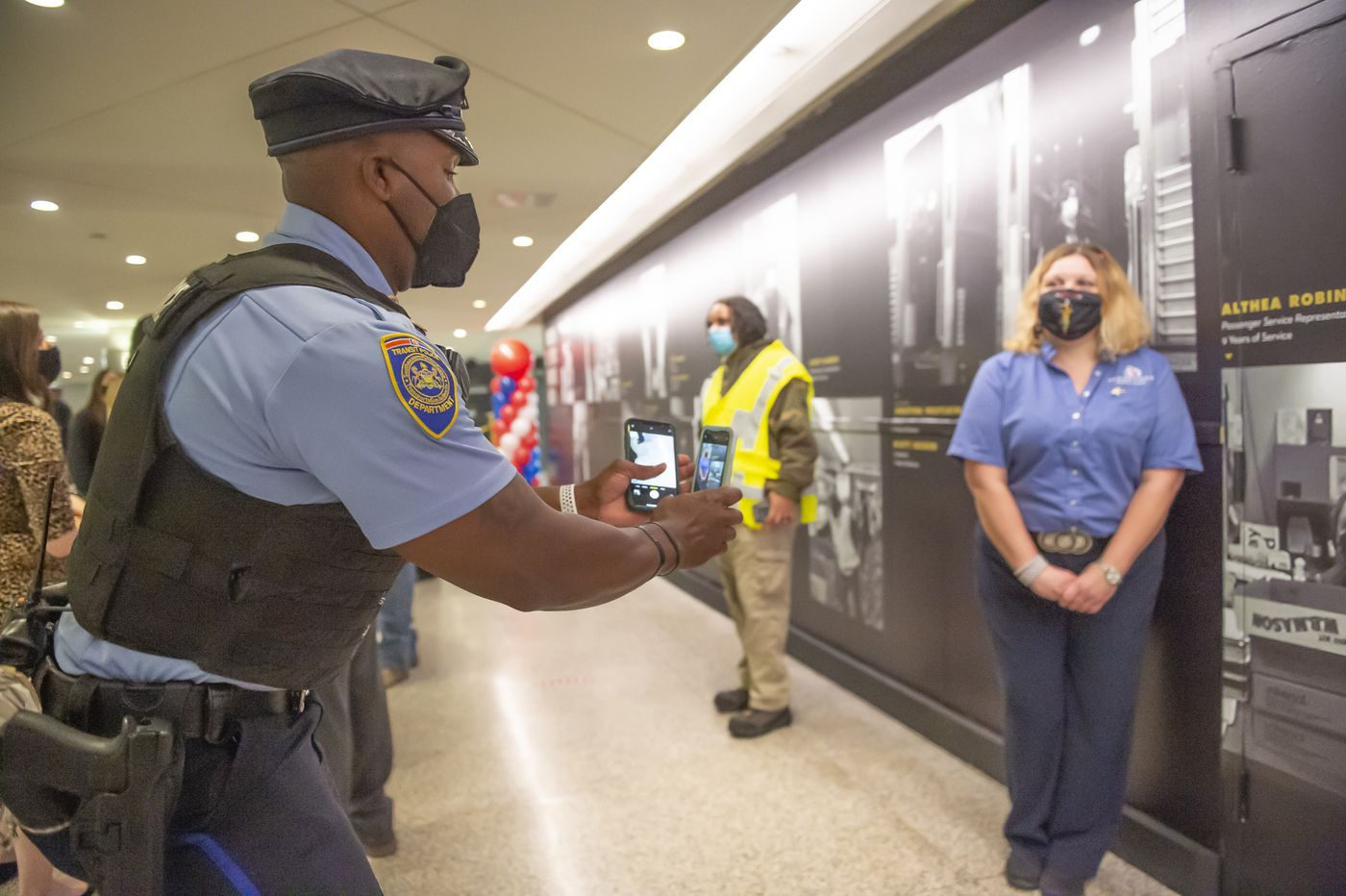 Tribute wall honoring SEPTA frontline workers on display at Suburban Station