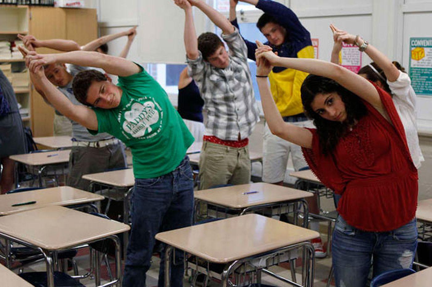 New to Central Bucks High curriculum: Mindfulness training