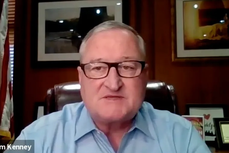 Mayor Jim Kenney talks via Zoom to The Inquirer Editorial Board on May 18, 2021, about the discovery of MOVE bombing victims' remains.