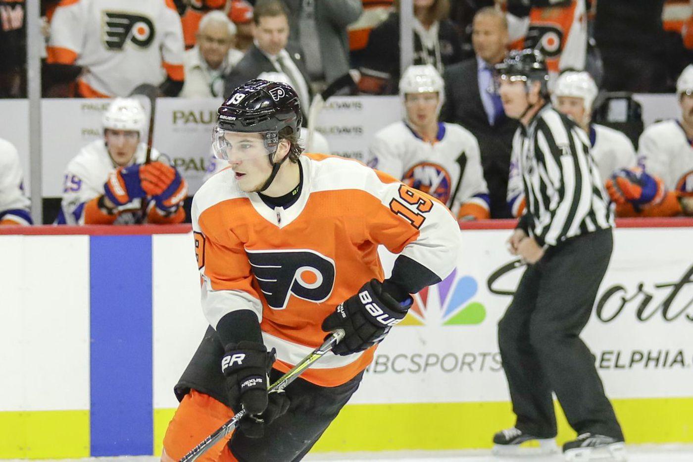Flyers' Nolan Patrick making slow but steady progress in rookie season