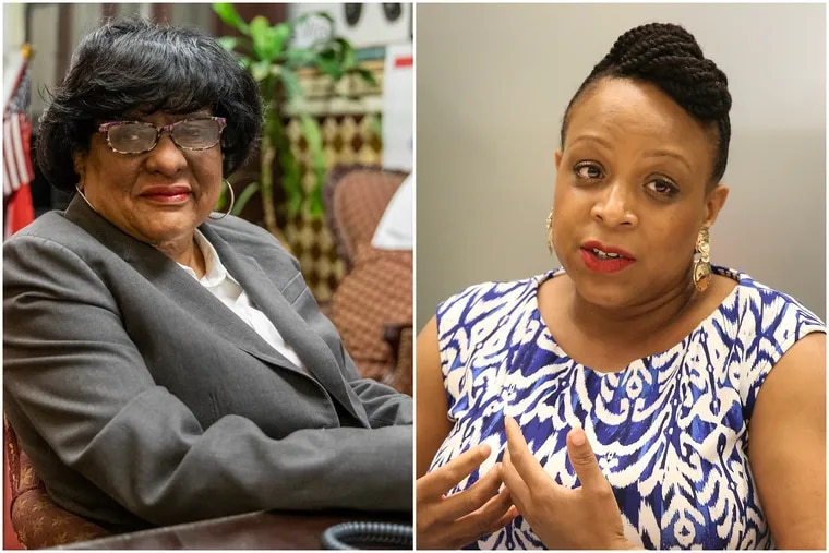 The PAC Philadelphia 3.0 has been investing heavily in materials to promote the campaign of Jamie Gauthier, right, who is challenging incumbent city Councilwoman Jannie Blackwell, left. A new law may require 3.0 to reveal more of its donors.