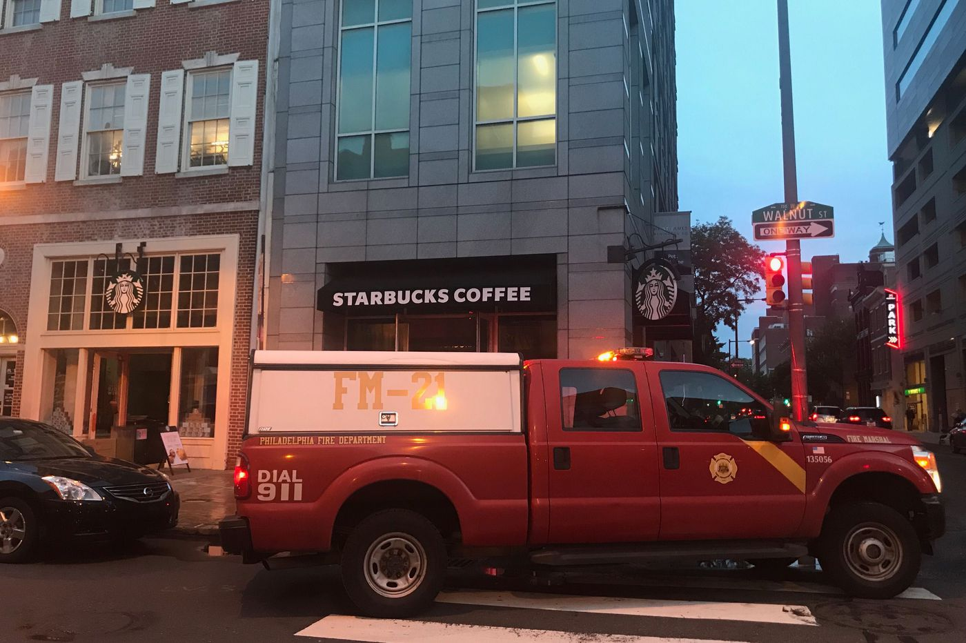 Fire breaks out at a Center City Starbucks