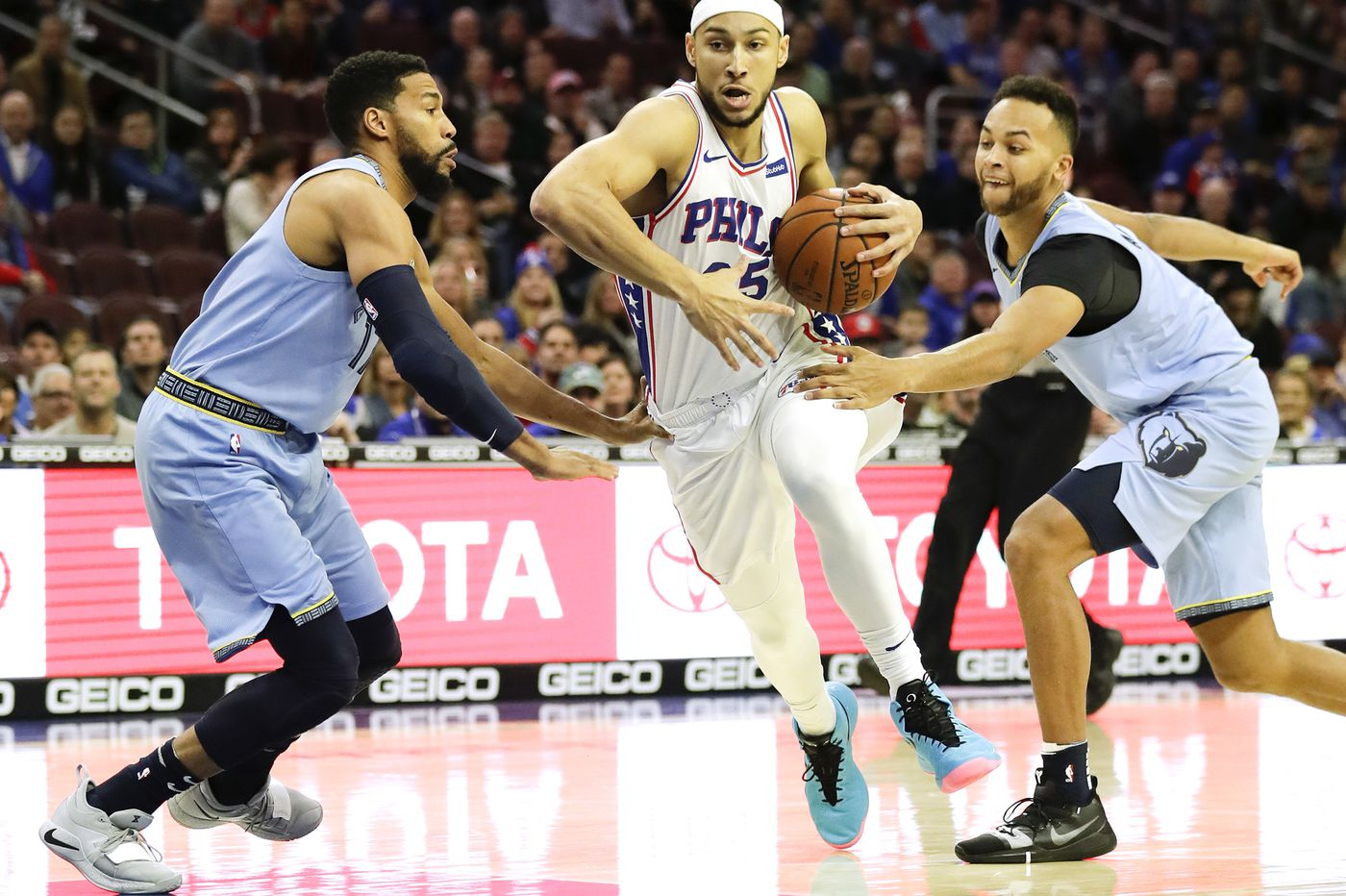 Ben Simmons continues to be aggressive in first quarters of Sixers games
