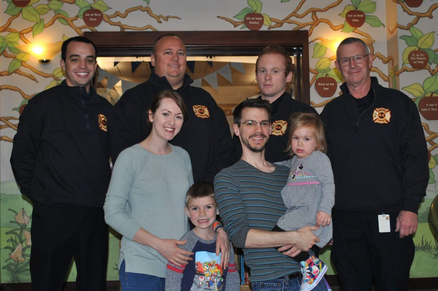 In Philly for toddler's cancer checkup, family in wreck gets Delco firefighters' surprise