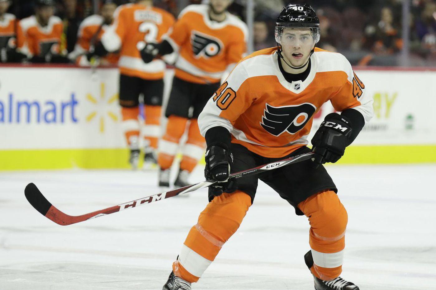 Flyers' Jordan Weal trying to regain scoring touch on familiar line