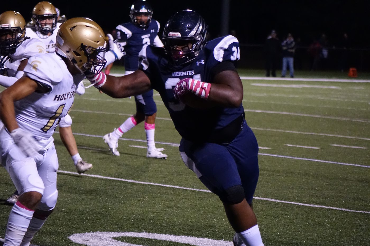 St. Augustine's Isaiah Raikes: Part defensive tackle, part 'Bowling Ball'