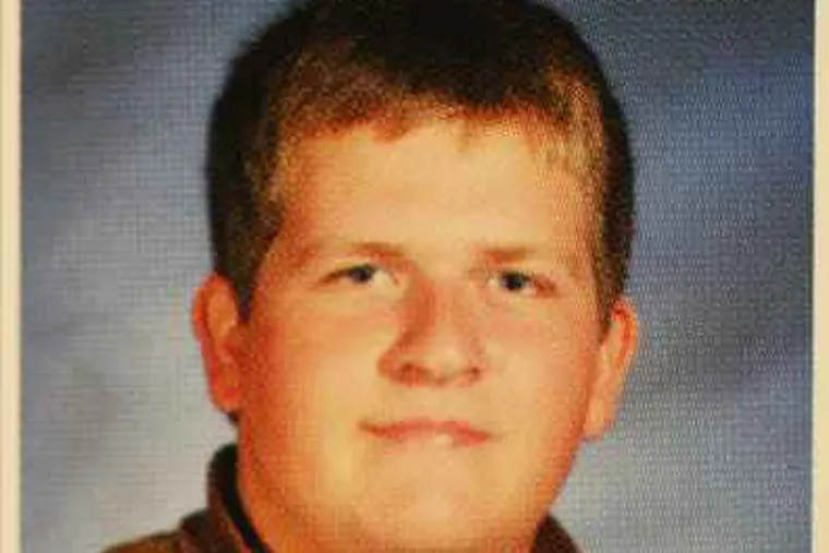 Evan Welch died in the crash.  This is his junior yearbook photo.
