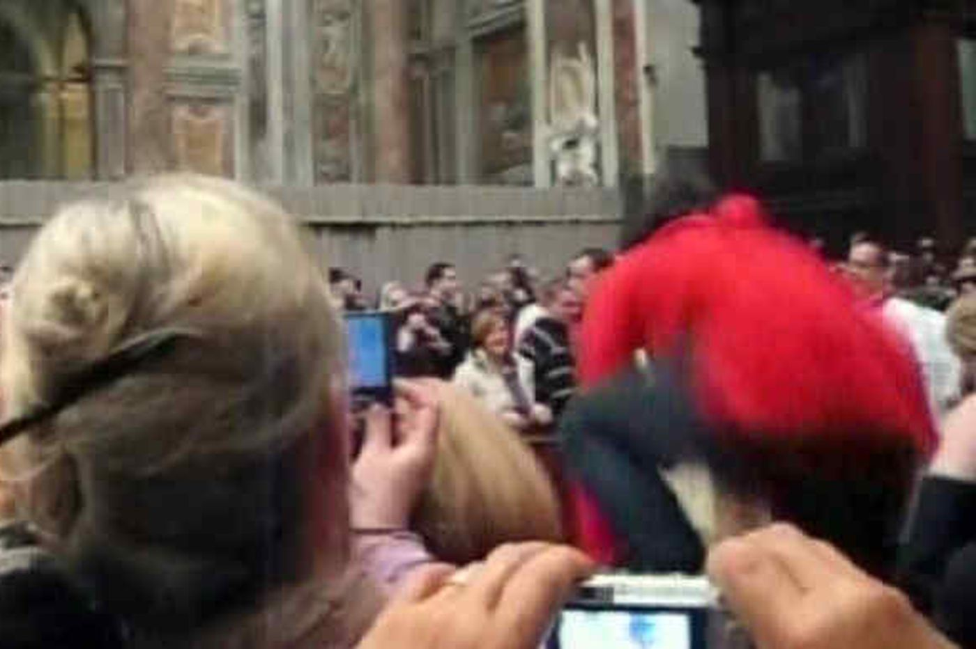Pope hit by woman involved in '08 breach