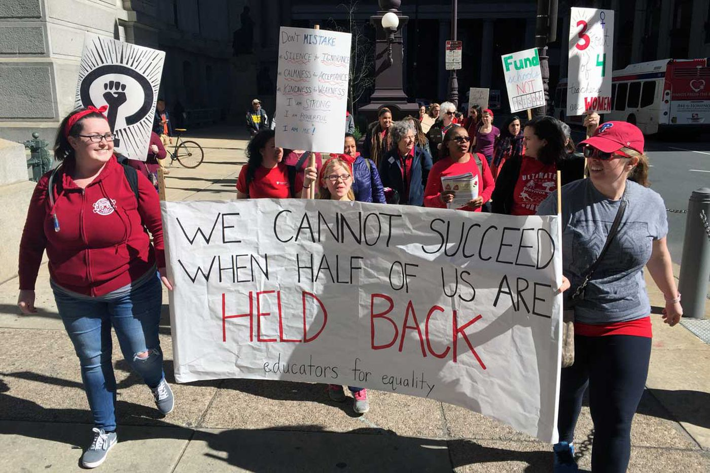 Some Philly women striking Wednesday; most teachers at two schools call out