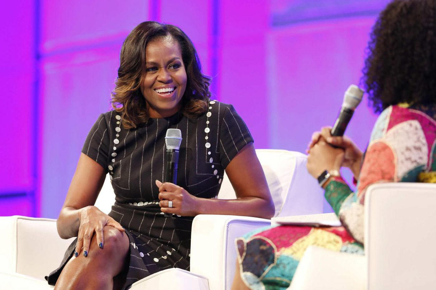 Michelle Obama tells women in Philly WH life was like 'being shot out of a cannon'