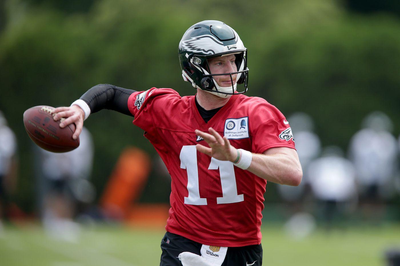 Carson Wentz practicing even more in Eagles OTAs