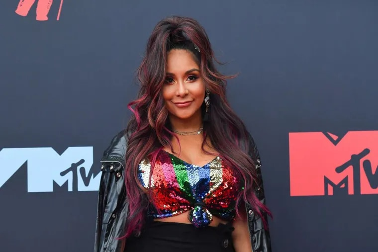 US reality TV personality Nicole Polizzi arrives for the 2019 MTV Video Music Awards at the Prudential Center in Newark in August.