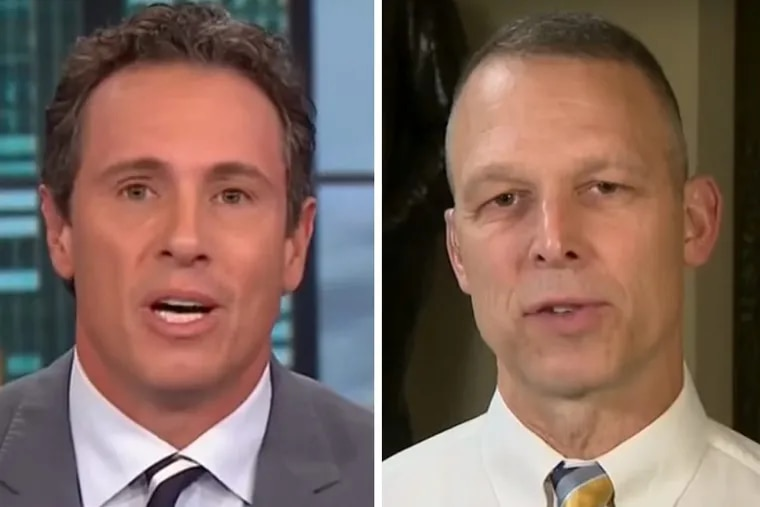 CNN host Chris Cuomo (left) got into a heated argument with Rep. Scott Perry (R., Pa.) over reports coming out of Puerto Rico.