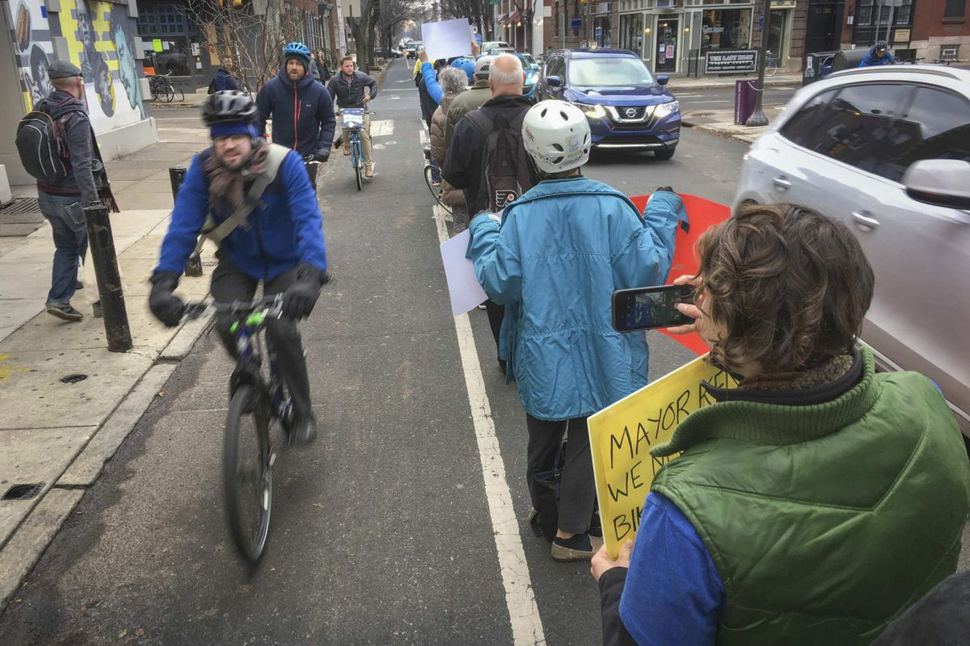 After another accident, bike lane advocates again take to Philly streets