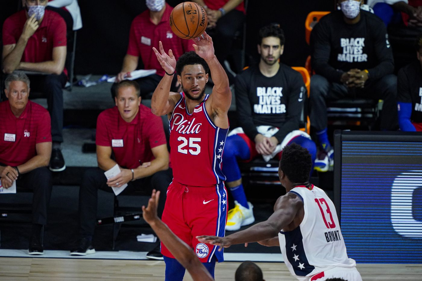Sixers top Washington Wizards, 107-98, but lose Ben Simmons to left knee injury