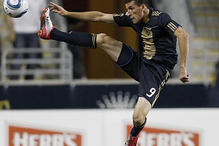Sebastien Le Toux's only goal this season came on a penalty kick. (Matt Slocum/AP)