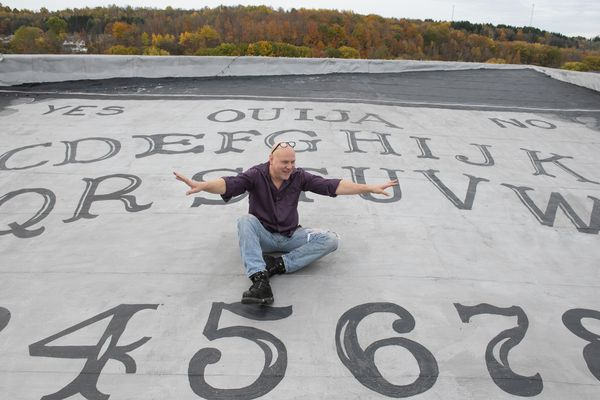 Is the world's biggest Ouija board in Western Pa. or Massachusetts? Yes. No. Goodbye.