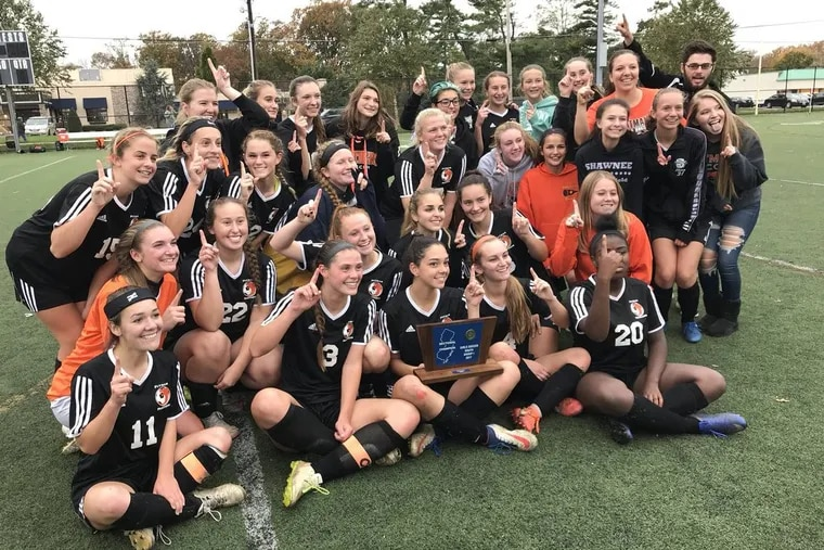 The Pitman girls' soccer team poses for a picture after winning the South Jersey Group 1 title. Pitman, however, fell to Shore Regional in the state semifinals on Tuesday.