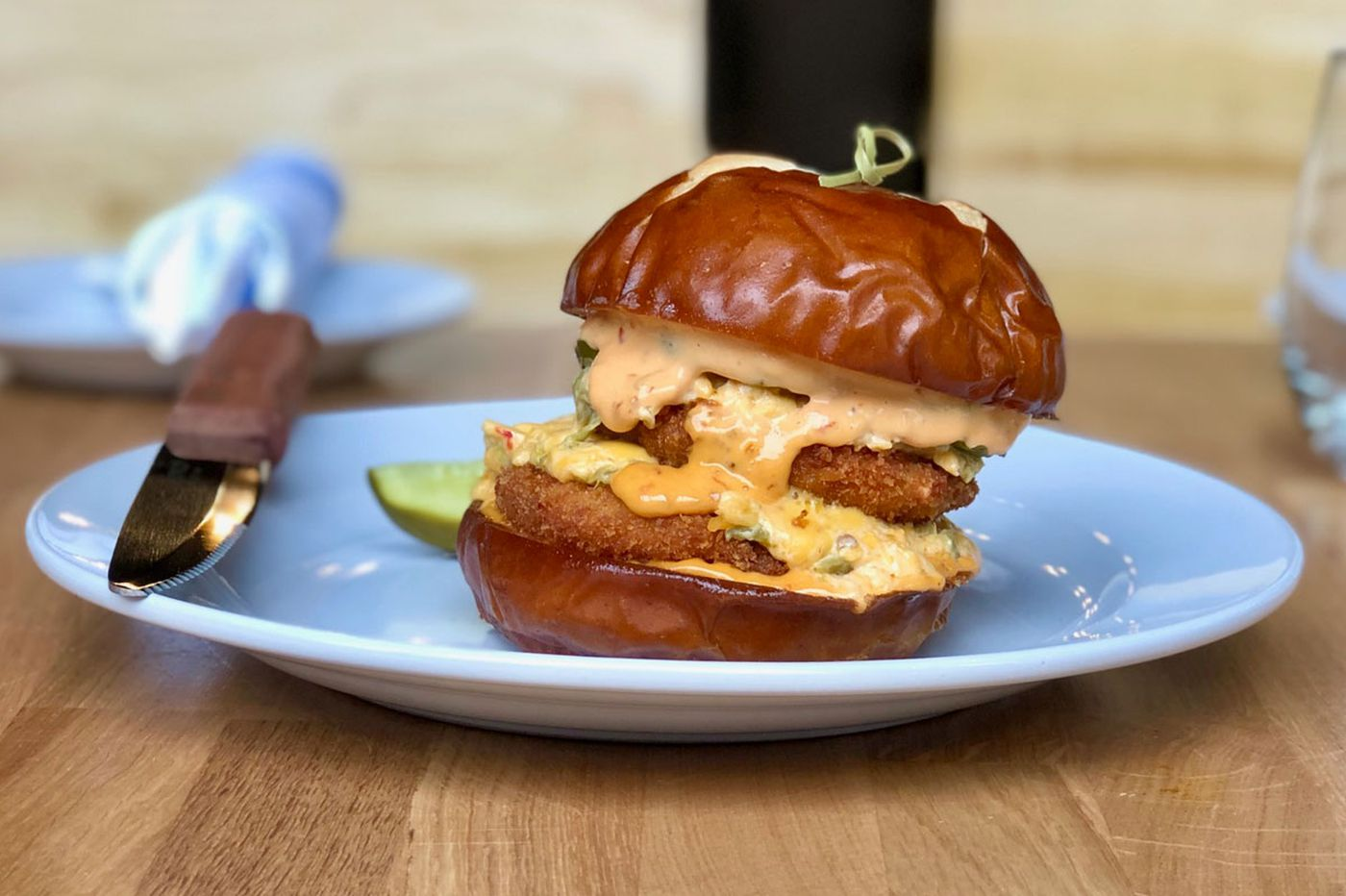 Burgers, pizzas, and other indulgent menu items at the new Emmy Squared | Let's Eat