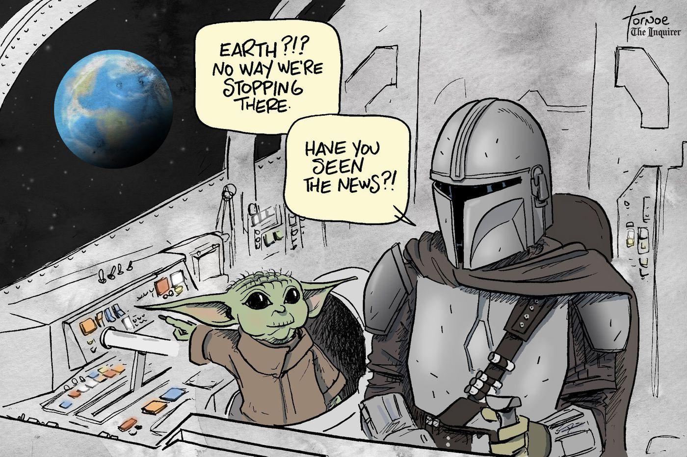 Cartoon: Don't let Baby Yoda set foot on Earth